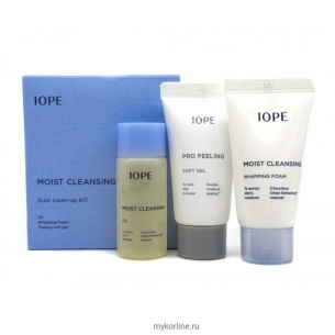IOPE Moist Cleansing Dust Clean-Up Kit
